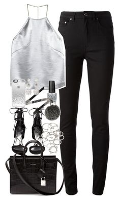 """""""Outfit for New Year's Eve"""" by ferned on Polyvore featuring Acne Studios, H&M, Stuart Weitzman, OPI, Yves Saint Laurent, Forever 21, Fendi and McQ by Alexander McQueen"""