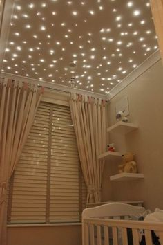 How sweet would this lighting idea be in your baby's nursery? The blog post links to how it's done.