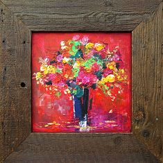 Flowers in red, abstract painting, abstract painting, Acrylic painting ,original painting Contemporary Artists, Modern Art, Original Paintings, Original Art, Still Life Flowers, Blue Horse, Buy Art, Artwork, Painting Abstract