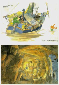 Hayo Miyazaki and pal Isao Takahata; Pippi Longstocking proposal that Lindgren shot down.
