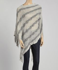 Look at this #zulilyfind! Gray Crochet Poncho by The Magic Scarf Company #zulilyfinds