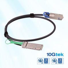 Cisco Compatible QSFP+ to CX4 1m hybrid copper cable