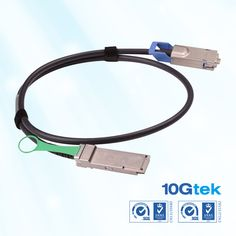 Cisco Compatible QSFP+ to CX4 1m hybrid copper cable
