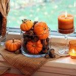 Windowsill Decoration Ideas | InteriorHolic.com Rustic Fall Decor, Fall Home Decor, Autumn Home, Wooden Pumpkins, Fall Pumpkins, Mini Pumpkins, Window Sill Decor, Fete Halloween, Halloween 2020