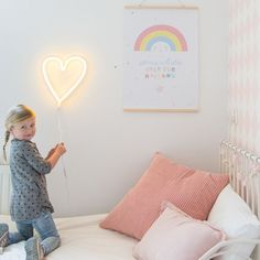 Super trendy yellow heart shaped wall lamp in neon style. This LED lamp is an energy efficient and sustainable variant of the popular neon lamp. Grown Up Bedroom, Girls Bedroom, Neon Heart Light, Neon Licht, A Little Lovely Company, Neon Led, Cool Lamps, Neon Lighting, Wire Lighting