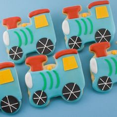 Choo Choo Train Sugar Cookies 12 favors by TSCookies on Etsy