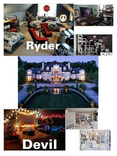 """Our house ... - Devil & Ryder"" by emo-vampire-nicole ❤ liked on Polyvore featuring interior, interiors, interior design, home, home decor, interior decorating and Nook"