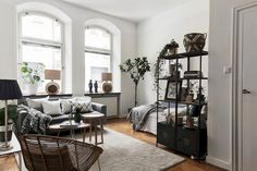 Gravity home small apartment living, small studio apartments, cozy apartmen Small Studio Apartments, Studio Apartment Design, Small Apartment Living, Studio Apartment Decorating, Cool Apartments, Home Living, Apartment Interior, Apartment Plants, Tiny Living
