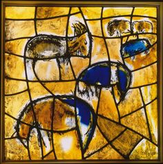 Marc Chagall and Studio Simon Marq Reims, 'Joseph's Tribe', trial stained glass for the synagogue of the Hadassah Ein Kerem Hospital, 1960, private collection. Copyright: Gérard Blot, RMN, Paris - © ProLitteris Zurich