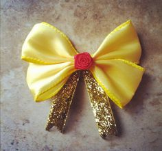 Belle Inspired Disney Hair Bow by BowsbyBryanne on Etsy, $9.00
