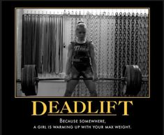 Love the deadlift!