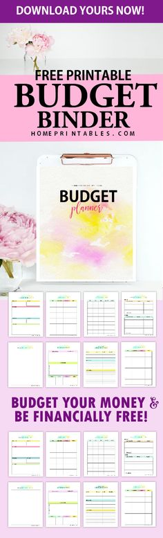 You'll love to use this free printable budget binder worksheets! Print your copy now. #budget #printable #2018 #planner