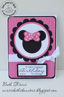Beth's Beauties: Minnie Mouse Card #scrappydew