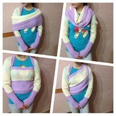 Scaldaspalle shawl Bolero Scarf 5 mesh by CreationPatchworkEwa