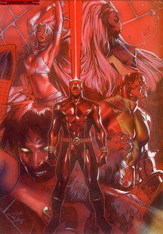 Parte del poster dibujado por Olivier Coipel y pintado por Gabriel Dell'Otto para Panini Francia - Uncanny X-Men