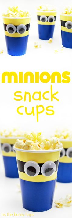 You'll go bananas for these easy to make Minions Snack Cups!