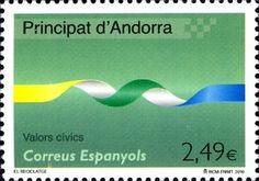 Sello: Recycling (Andorra (Administración Española)) (Civic values) Mi:AD-ES 373,Yt:AD-ES 363,WAD:XC007.10