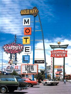 Stardust, Gold Key Motel. Las Vegas, 1977. Photo by Robert Venturi & Denise Scott Brown, taken from the parking lot of Gold Key Motel (now Gold Key Shops) on the Las Vegas Strip. Same angle as this...