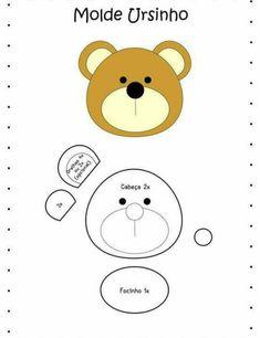 Moldes de Feltro para Imprimir: unicórnio, coruja e muito mais Felt Animal Patterns, Quiet Book Patterns, Stuffed Animal Patterns, Quilt Baby, Applique Patterns, Craft Patterns, Felt Diy, Felt Crafts, Felt Dolls