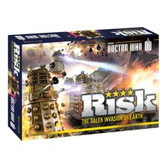 RISK: Doctor Who. I am seriously considering buying this. Love Doctor Who and Risk is not a bad game. Everyone is usually willing to play. It didn't scare them off like some of the gamer games do. :)