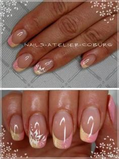 Nageldesign rosa-gelb Galerie Bilder Naildesign Does my Child need Therapy? Love Nails, Pretty Nails, Nail Art Designs, Nail Design, Dark Red Nails, Spring Nail Colors, Red Nail Polish, French Tip Nails, Nail Manicure