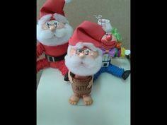 Como fazer um Papai Noel no barril em eva 3 d by Vivian Balaban - YouTube