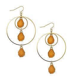 Natasha Accessories Orbital Drop Earrings   Dillards.com
