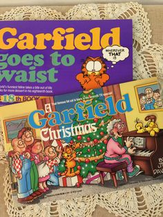 Garfield The Cat Set of 2 Cartoon Books A by PineStreetPickers