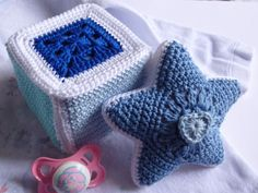Häkeln im Quadrat: Stern & Würfel crochet ganchillo