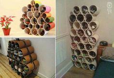 Organizador de zapatos con tubos de pvc. En Cosas creativas para el hogar en fbk