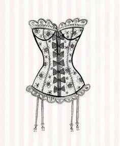 Image result for dessiner un corset