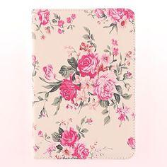 Rose Pattern PU nahkainen jalusta iPad mini – USD $ 16.99