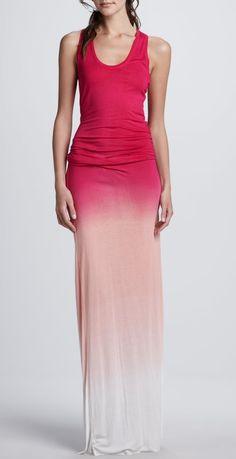 Sunset ombre maxi dress