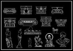 CAD Library-AutoCAD Blocks & Drawings : ★【Decoration Elements Block V1 】★