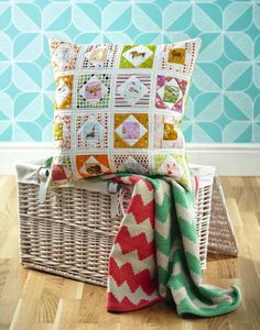 cushion by @Susan Caron Caron Caron Standen  Inside issue 5 of Love Patchwork & Quilting. Photo © Love Patchwork & Quilting