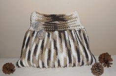 Crochet Tote Bag - Mocha Madness Terrifically Textured Tote, via Etsy.