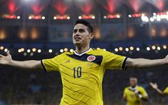 Download wallpapers James Rodriguez, soccer, Colombian National Team, football stars, footballers