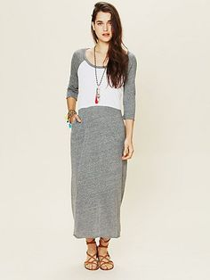 FP Beach All Night Baseball Maxi - great casual day dress