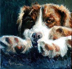 """Daily+Paintworks+-+""""Watchdog""""+-+Original+Fine+Art+for+Sale+-+©+Rentia+Coetzee"""