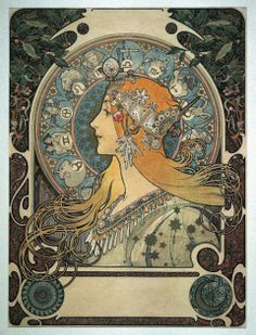 Alphonse Mucha's art is great inspiration for card game art.