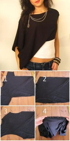 DIY Tutorial: DIY SHIRT / DIY T- Shirt Redesign Ideas - Bead&Cord