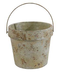 Another great find on #zulily! Gray Bucket Planter #zulilyfinds