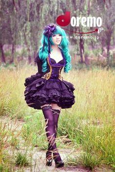 Hatsune Miku Vocaloid Cosplay Costume