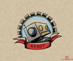 Robot illustration by Matt Spangler - would make EPIC tattoo.