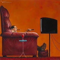 ~marius van dokkum ♥ Click Through For MANY more images~ Illustrations, Illustration Art, Paint Photography, Celebrity Caricatures, Dutch Painters, Art Academy, Dutch Artists, Norman Rockwell, Pop Surrealism