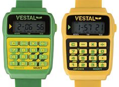 Vestal Datamat 80s-style calculator watch (alas they only make them in black or dark green now)