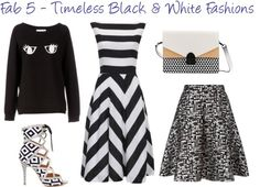 The Fab 5 - Classic Black and White Fashions - Derek Loves Shopping