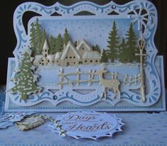 ink'n'rubba for Cute Card Thursday created with Marianne Design die cuts.
