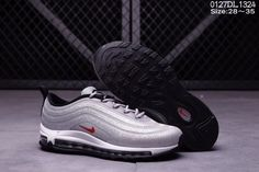 Cheap Nike Air Max 97 LX Swarovski Silver Black Red Kid shoes WhatsApp  8613328373859 6e231cb2f