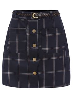 Shop Single Breasted Plaid Skirt online. SheIn offers Single Breasted Plaid Skirt & more to fit your fashionable needs.